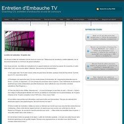 Lettre - Entretien d'Embauche TV