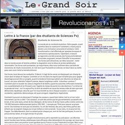 Lettre à la France (par des étudiants de Sciences Po)