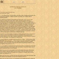 Lettre aux Femmes, Jean-Paul II 1995