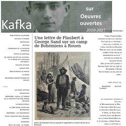 Une lettre de Flaubert à George Sand sur un camp de Bohémiens à Rouen