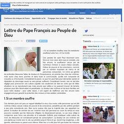 Lettre du Pape François au Peuple de Dieu - Église catholique en France