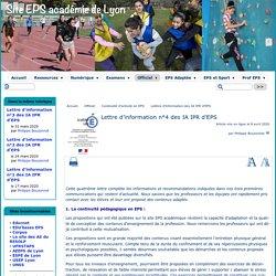 IA / IPR EPS Lyon : Lettre d'information n°4