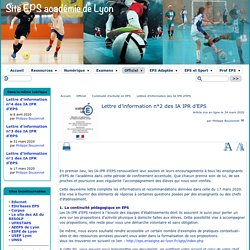 IA / IPR EPS Lyon : Lettre d'information n°2