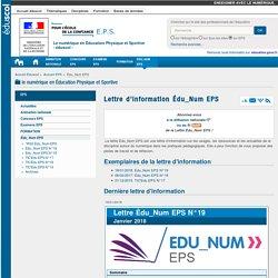 Lettre d'information Édu_Num EPS — EPS