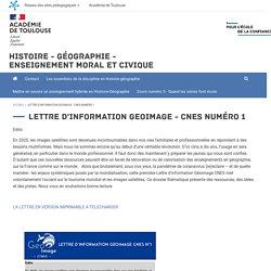 Lettre d'information Geoimage - CNES numéro 1