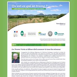 Lettre d'information du Groupe Trame Verte et Bleue