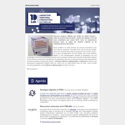 1D Lab - La lettre d'information des partenaires #1