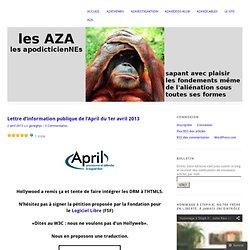 Lettre d'information publique de l'April du 1er avril 2013