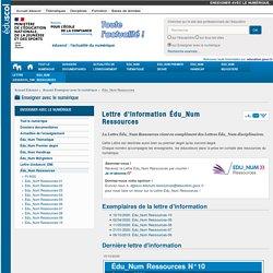 Lettre d'information Édu_Num Ressources