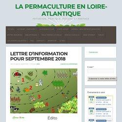 Lettre d'information pour septembre 2018