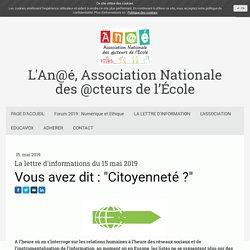 An@é - Citoyenneté numérique