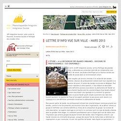 Lettre d'info Vue sur Ville - Mars 2013