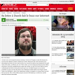 Sa lettre à Daech fait le buzz sur internet - 16/11/2015 - ladepeche.fr