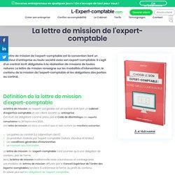 La lettre de mission de l'expert-comptable