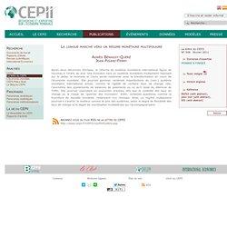 Un régime monétaire multipolaire - CEPII Centre français d'étude et de recherche en économie internationale