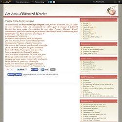 L'autre lettre de Guy Moquet - Le Blog des amis d' Edouard Herriot