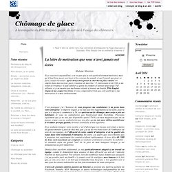Cover letter example exemple lettre de motivation - Cabinet de recrutement levallois perret ...