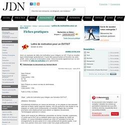 Lettre de motivation pour un DUT/IUT - Modèle gratuit de lettre