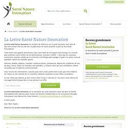 Newsletter gratuite Sante et Nutrition