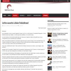 Lettre ouverte à Alain Finkielkraut