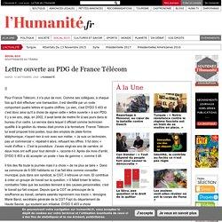 Lettre ouverte au PDG de France Télécom