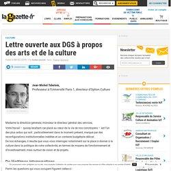 Lettre ouverte aux DGS à propos des arts et de la culture