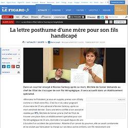 France : La lettre posthume d'une mère pour son fils handicapé