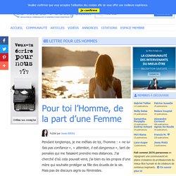 Lettre pour les hommes - Les Mots Positifs.com