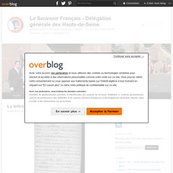 La lettre de Gaston Biron. - Le Souvenir Français.