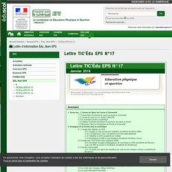 Lettre TIC'Édu EPS N°17 — EPS
