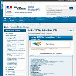 Lettre TIC'Édu thématique N°04