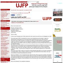 Lettre de l'UJFP au PCF