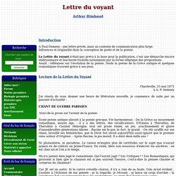 Lettre du voyant - Rimbaud