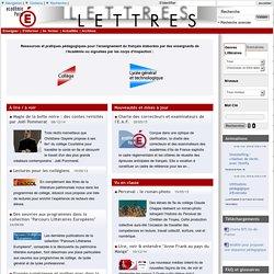 Site de lettres de l'académie de Paris - Français