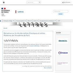 Site de lettres de l'académie de Paris