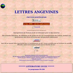 LETTRES ANGEVINES