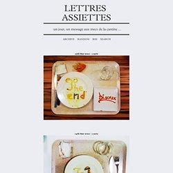 Lettres Assiettes