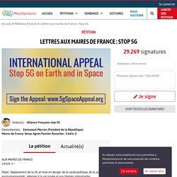 Lettres aux maires de France : Stop 5G