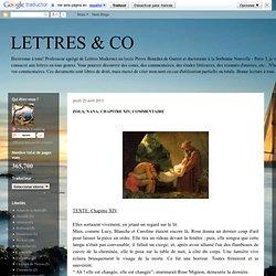 LETTRES & CO: ZOLA, NANA, CHAPITRE XIV, COMMENTAIRE