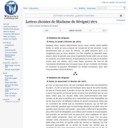 Lettres choisies de Madame de Sévigné/1671