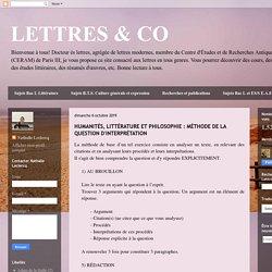 LETTRES & CO : méthode de la question d'interprétation