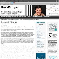 Lettres de Moscou