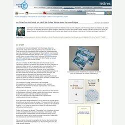 lettres - en lisant en écrivant un récit de Jules Verne avec le numérique