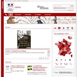 Lettres - eduscol