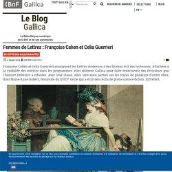 Femmes de Lettres : Françoise Cahen et Celia Guerrieri
