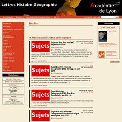 Bac Pro - Lettres Histoire Géographie