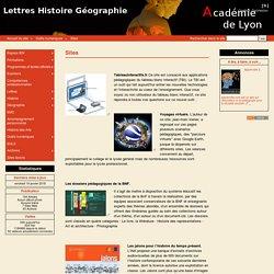 Sites - Lettres Histoire Géographie