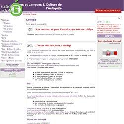 [Lettres et Langues & Culture de l'Antiquité] Collège