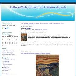 Le Cri de MUNCH - Lettres d'Arts, littérature et histoire des arts