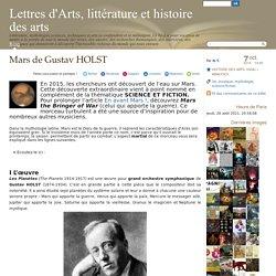 Mars de Gustav HOLST - Lettres d'Arts, littérature et histoire des arts